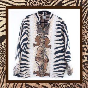 Vintage Sugar Street Weavers Knit Animal Jacket L